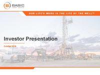 Investor Presentation October 2018