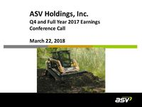 Fourth Quarter and Year End 2017 Accompanying Webcast Slides