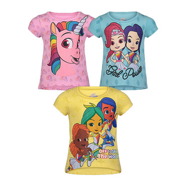Rainbow Rangers Toddler Girls' 3 Pack T-Shirt