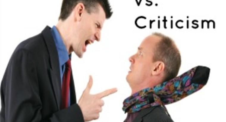 Coaching vs. Criticism