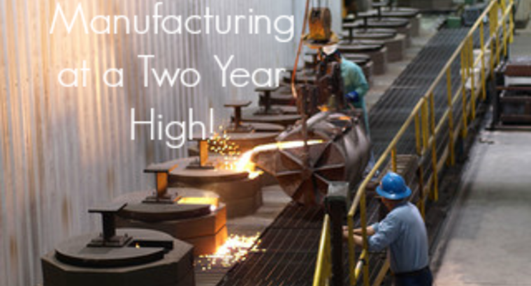 August Manufacturing at a Two Year High