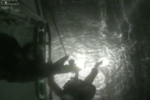 Fisherman wearing a lifejacket rescued alive from very rough seas after falling overboard