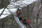 Dramatic moment Coastguard helicopter rescues glider pilot