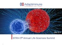 Adaptimmune at Sun Trust Life Sciences Summit in NYC for 1:1 meetings