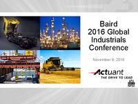 Baird 2016 Global Industrials Conference Presentation
