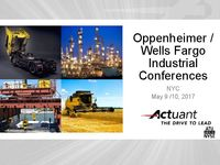 Oppenheimer / Wells Fargo Industrial Conference Presentation