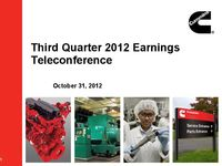 Q3 2012 Earnings Presentation