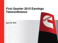 Q1 2015 Earnings Presentation