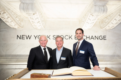 Skechers USA, Inc. (NYSE:SKX) executive management members gathered to commemorate two decades as a public company. L to R: Skechers' Chief Operating Officer David Weinberg, President Michael Greenberg and Chief Financial Officer John Vandemore. Photo Credit: NYSE