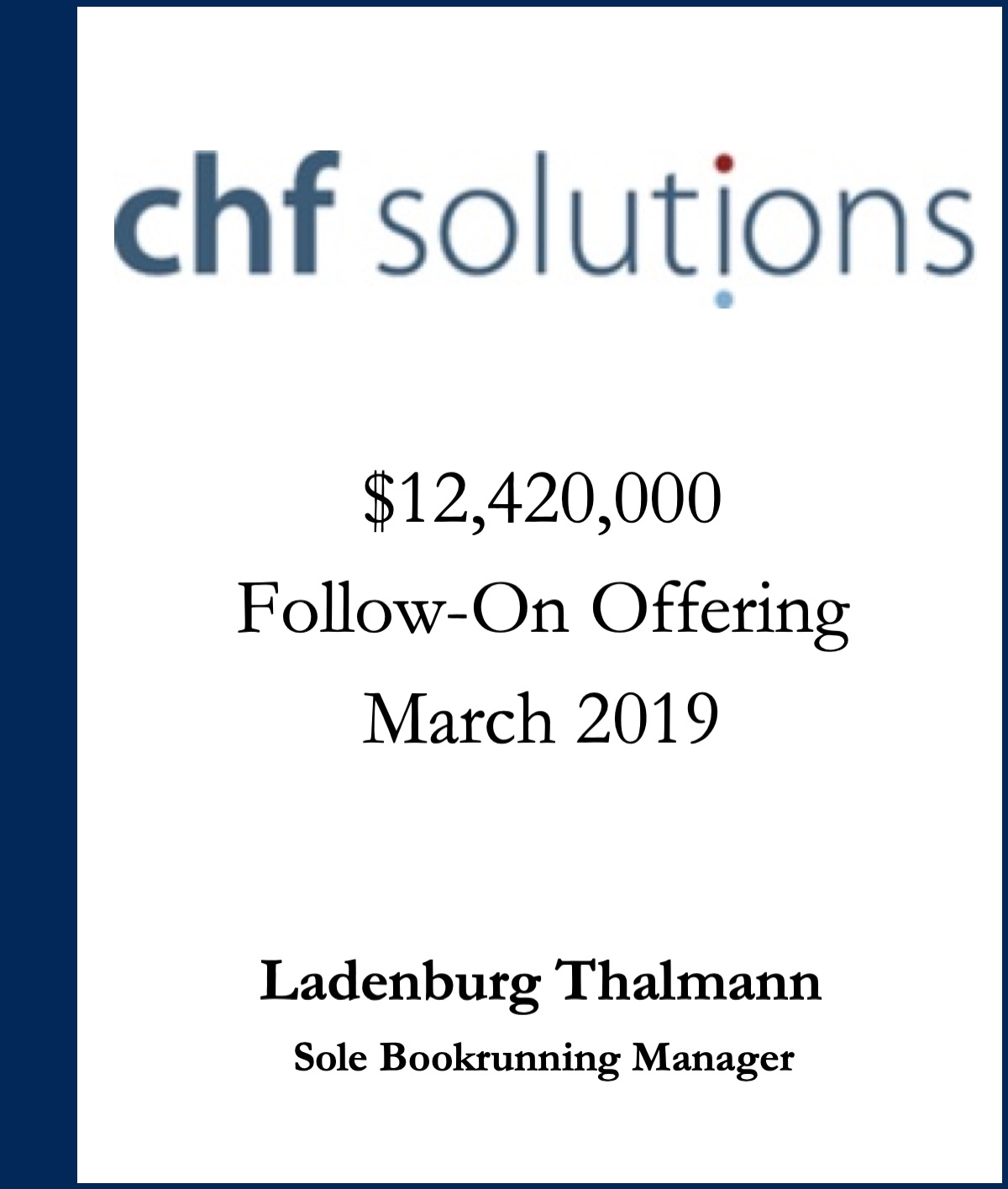 CHF Solutions