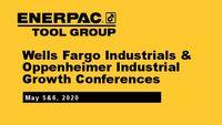 Wells Fargo Industrials & Oppenheimer Industrial Growth Conferences Presentation