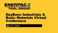 KeyBanc Industrials & Basic Materials Virtual Conference