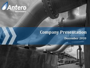 Antero Midstream Company Presentation - August 2020