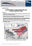 commencement of development drilling at buck creek no.2 mine