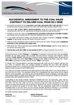 Successful Amendment to Coal Sales Contract for No.2 Mine