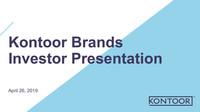 Kontoor Brands Investor Presentation