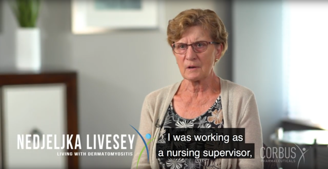 Nedjeljka was a nursing supervisor before being diagnosed with dermatomyositis. She shares how the symptoms have affected her life and how she has learned to cope with the disease.