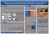 A New Device for Achieving Adequate Bowel Prep in Poorly Prepped Patients Receiving a Reduced Pre-Procedural Preparation. UEGW 2016