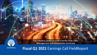 Fiscal Q1 2021 Earnings Call FieldReport