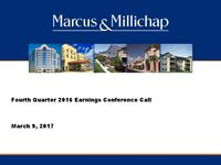 Fourth Quarter 2016 Earnings Conference Call Presentation