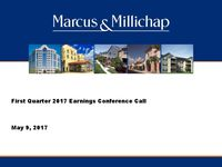 First Quarter 2017 Earnings Conference Call Presentation