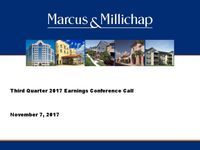 Third Quarter 2017 Earnings Conference Call Presentation