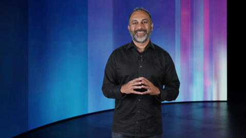 Navin Shenoy, Intel executive vice president and general manager of the Data Platforms Group, speaks during Intel's Edge of Wonderful event broadcast on June 21, 2021. Intel's virtual event before the opening of Mobile World Congress 2021 looks at the company's foundational role in unleashing the possibilities of 5G, building out the edge and enabling tomorrow's artificial intelligence. (Credit: Intel Corporation)