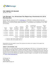 2018 Dividend Tax Treatment