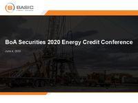 BofA Securities 2020 Energy Credit Conference Presentation