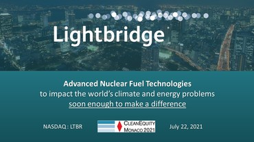 Thumbnail of Presentation at CleanEquity® Monaco 2021 - July 22, 2021