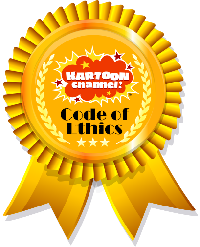 Kartoon Channel Code of Ethics Ribbon