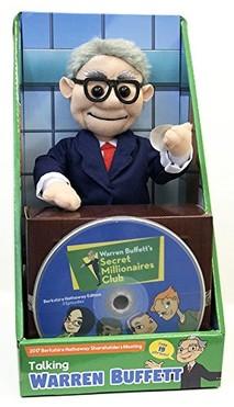 Warren Buffett Talking Doll featuring 19 sayings