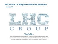 38th Annual J.P. Morgan Healthcare Conference - January 2020