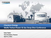 Wolfe Trahan & Co. Power & Gas Deep Dive Conference