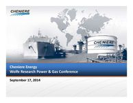 Wolfe Research Power & Gas Conference Presentation