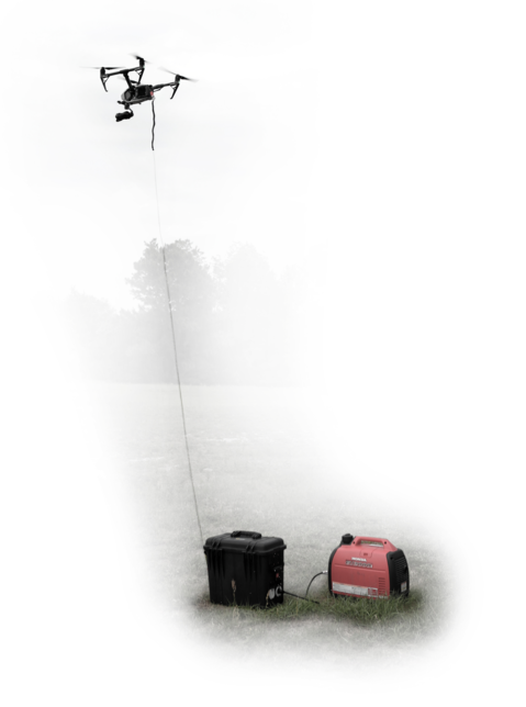 Tether System: Tether Kit for Unlimited Flight Time