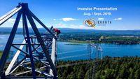Aug. / Sept. 2019 Investor Presentation