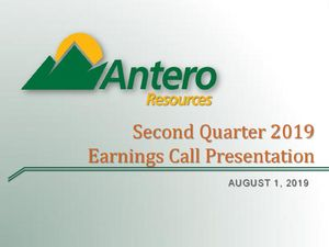 Second Quarter 2019 Earnings Call