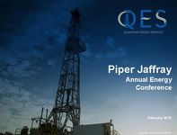 Piper Jaffray Annual Energy Conference Presentation
