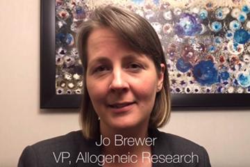 Jo Brewer summarizes the allogeneic program data she presented at ASGCT 2019
