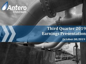 Third Quarter 2019 Earnings Conference Call