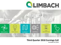 Third Quarter 2018 Earnings Call Presentation