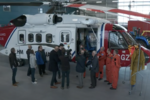 Coastguard helicopter crew reunited with fisherman Reegan Green - BBC Spotlight report