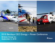 2018 Barclays CEO Energy-Power Conference