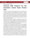 Hancock Jaffe Prepares for the VenoValve United States Pivotal Trial
