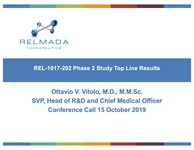 Top-Line Results from REL-1017 Phase 2 Study