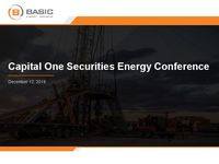 Capital One Securities Energy Conference Presentation