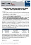 Commencement of Bid Process for Capital Items at Buck Creek