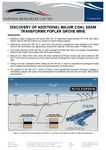 DISCOVERY OF ADDITIONAL MAJOR COAL SEAM AT POPLAR GROVE MINE