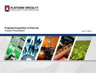 Proposed Acquisition of Alent plc